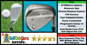 Photos, Review, Ranking, Pros, and Cons of Titleist Vokey SM6 Wedge