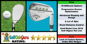 Photos, Review, Ranking, Pros, and Cons of Callaway Mack Daddy MD3 Milled Wedge