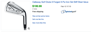 Callaway X Forged price players