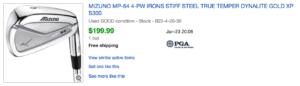 Mizuno MP64 ebay listing