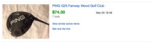 price of ping g25 fairway wood
