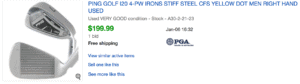 Ping i20 irons price players