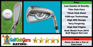 Photos, Review, Ranking, Pros, and Cons of Ping G Max Irons