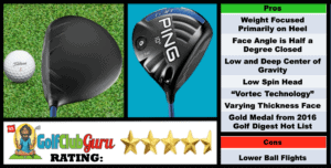 Photos, Review, Ranking, Pros, and Cons of Ping G SF Tec Driver
