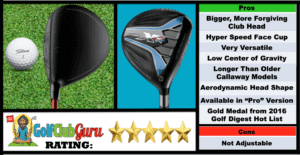 Photos, Review, Ranking, Pros, and Cons of Callaway XR 16 Fairway Wood 3 Wood