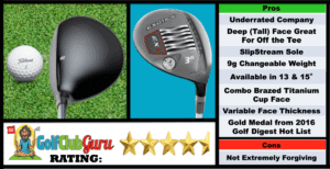 Photos, Review, Ranking, Pros, and Cons of Tour Exotics Edge EX9 2016 3 Wood