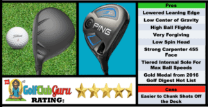 Photos, Review, Ranking, Pros, and Cons of Ping G Fairway Wood 3 Wood