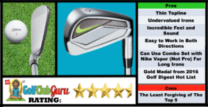 Photos, Review, Ranking, Pros, and Cons of Nike Vapor Pro Irons