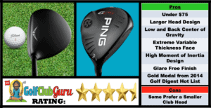 Photos, Review, Ranking, Pros, and Cons of Ping G25 Under 75