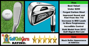 Photos, Review, Ranking, Pros, and Cons of Titleist AP2 712 Irons