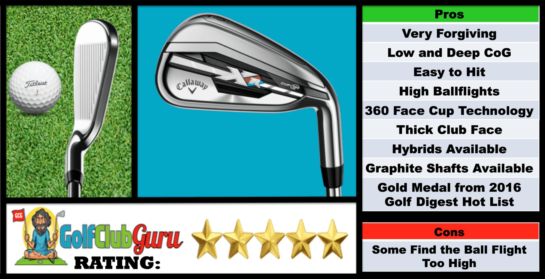 List of Pros Cons of Callaway XR Irons