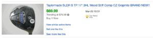 Sold listing of TM SLDR S Golf
