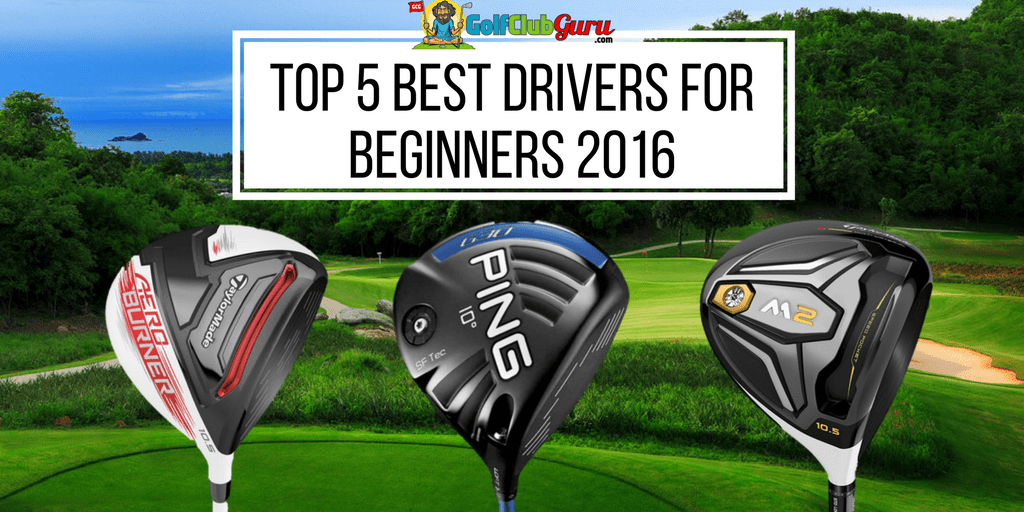 golf background with golf drivers for beginners
