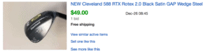 Sold eBay Listing for Cleveland 588 RTX Golf Wedge Under $50