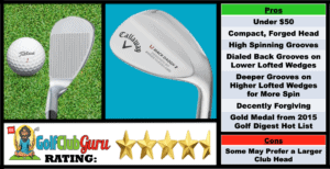 Photos, Review, Ranking, Pros, and Cons of the Callaway Mack Daddy 2 Golf Wedge