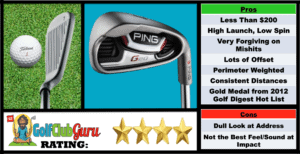 Photos, Review, Ranking, Pros, and Cons of the Ping G20 Budget Irons