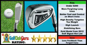 Photos, Review, Ranking, Pros, and Cons of Ping i20 Irons Under 200