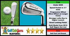 Photos, Review, Ranking, Pros, and Cons of TaylorMade Tour Preferred CB Irons