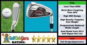 Photos, Review, Ranking, Pros, and Cons of Titleist AP1 712 Irons