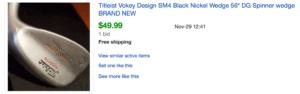 Sold eBay Listing for Titleist Vokey SM4 Golf Wedge Under $50