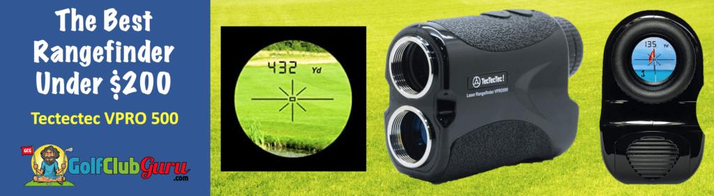 the best value rangefinder golf laser under $200 tectectec vpro500