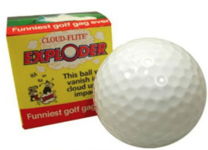 Golf Ball that Explodes on Impact