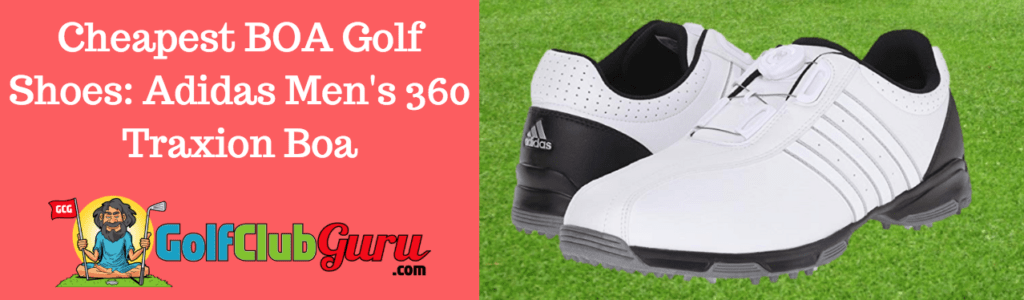 cheapest shoes for golfers boa traxion adidas