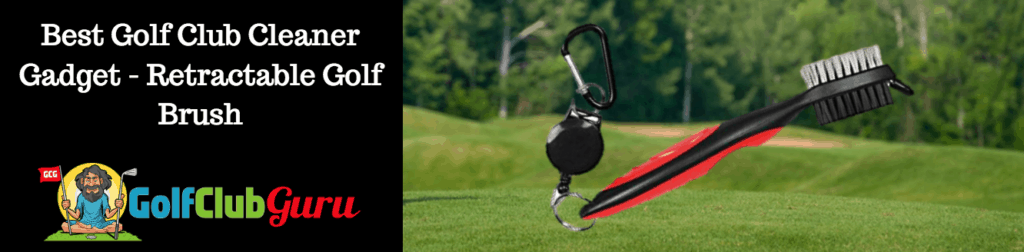 retractable golf cleaner