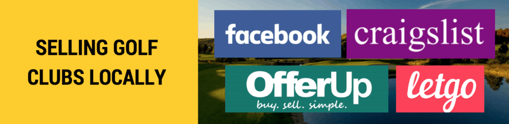 sell golf clubs for cash locally