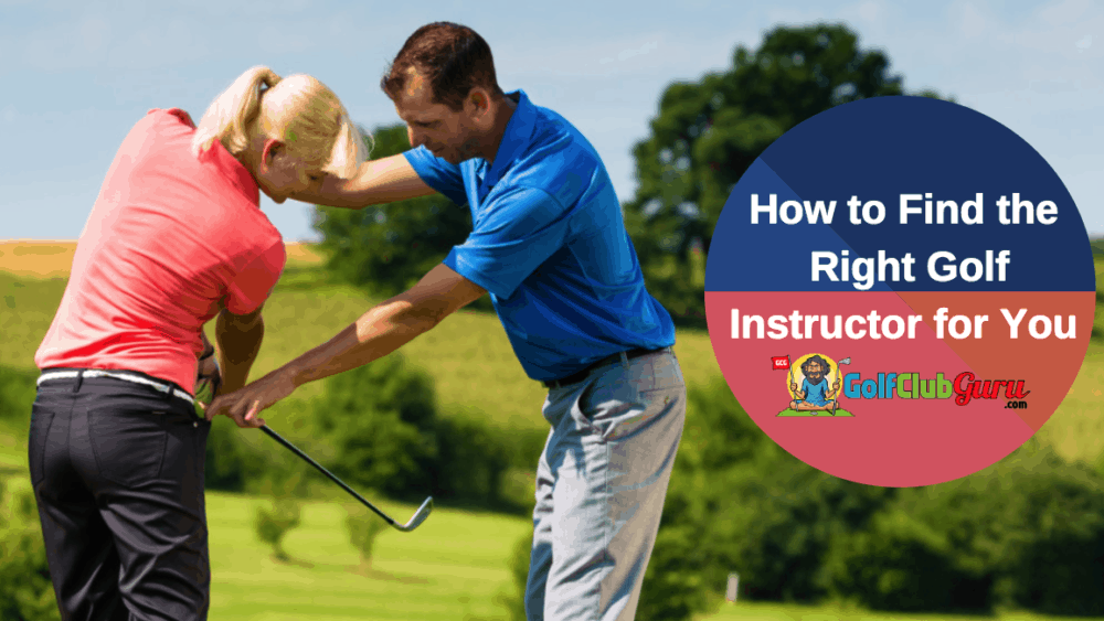 The right PGA golf pro teacher