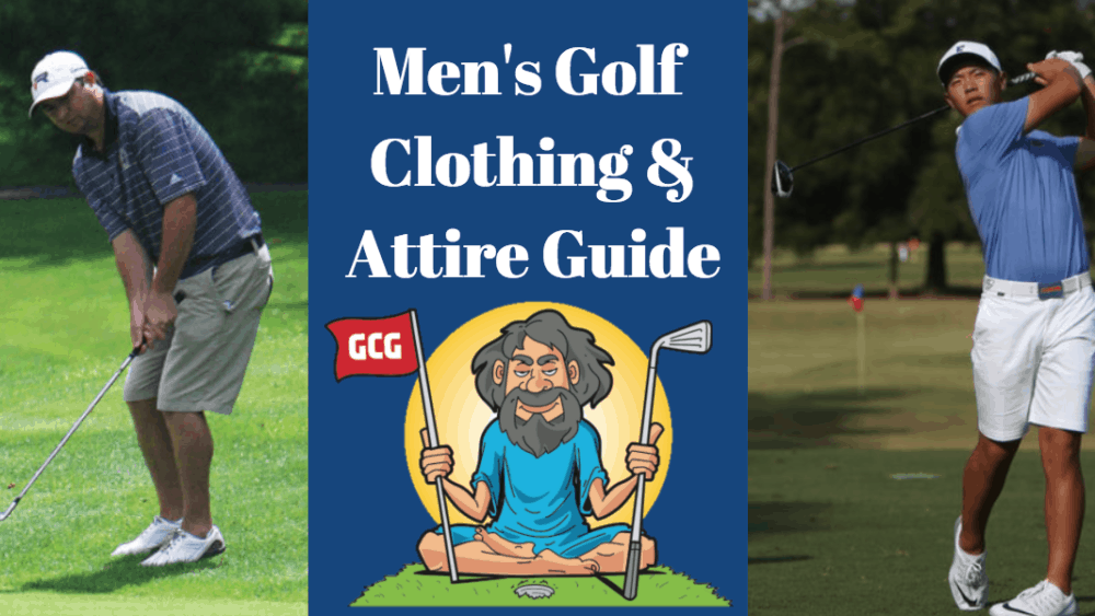 golf men guys attire clothing