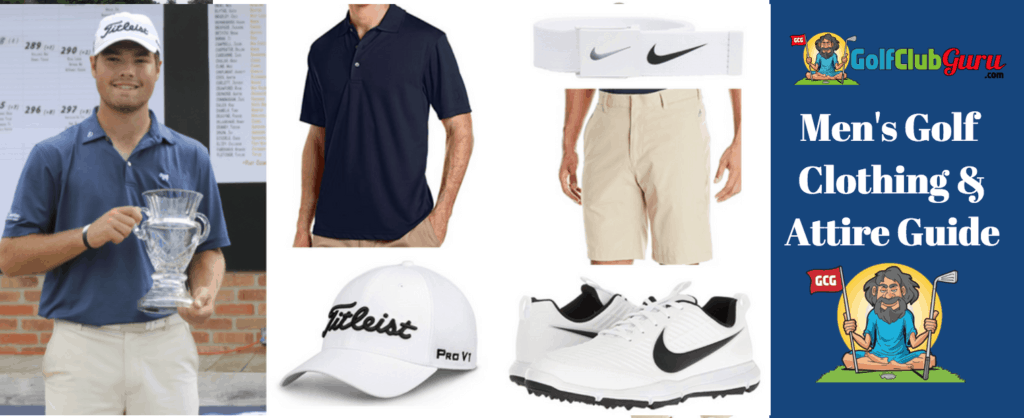 amaetur golf clothes attire outfit to wear on course