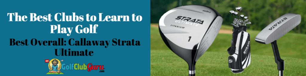 beginner golfer full set to learn