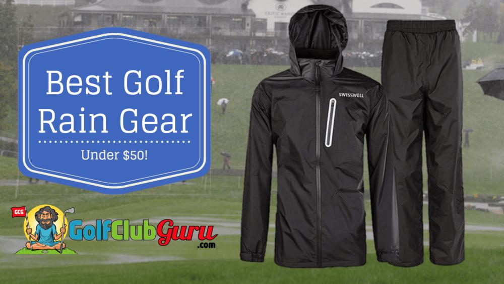 golf rain gear under $50
