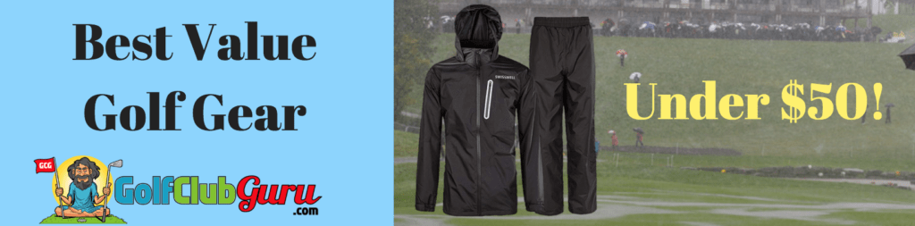 best golf rain gear suit