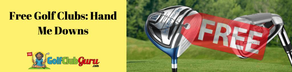 free golf clubs