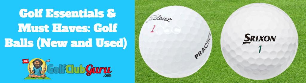 golf balls practice