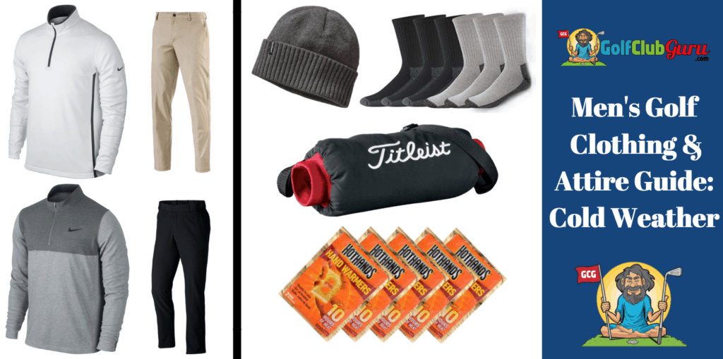 cold weather golf attire clothing outfit