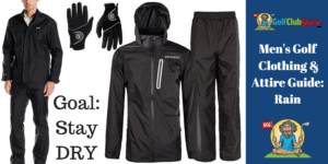 rain wet dry golf clothing attire outfit