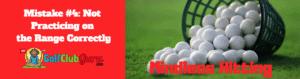 golf range practice beginner mistakes drills