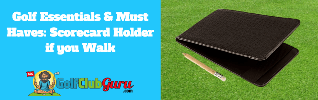 score card holder golf