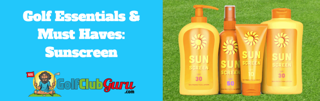 golf sun screen uv spf