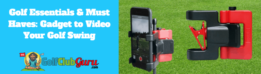 golf swing video camera holder phone