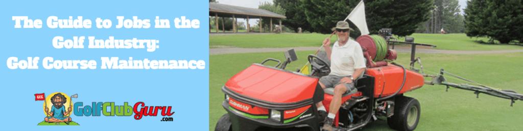 golf maintenance greens keeper