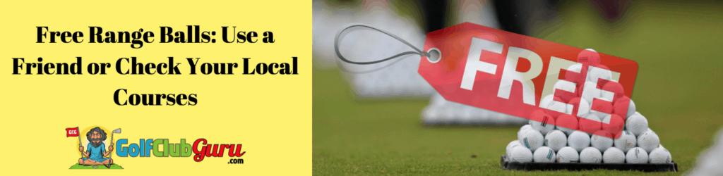 free range balls golf