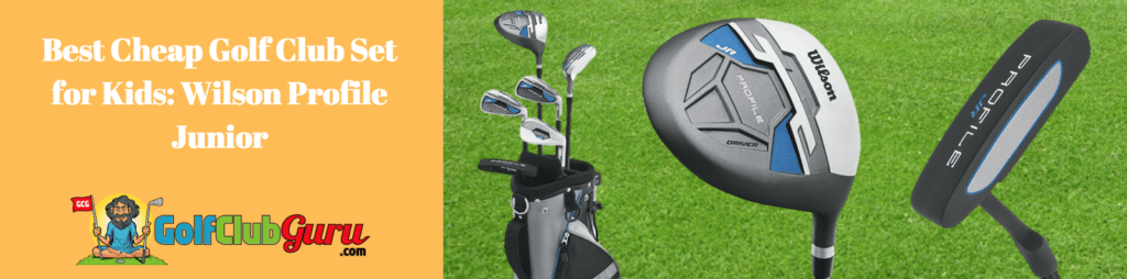 kids wilson complete set golf clubs