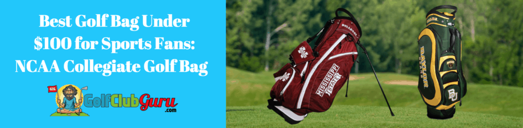 ncaa golf bag nfl mlb