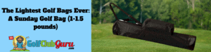 sunday golf bags carry light