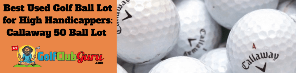 high handicap golf balls perfect for