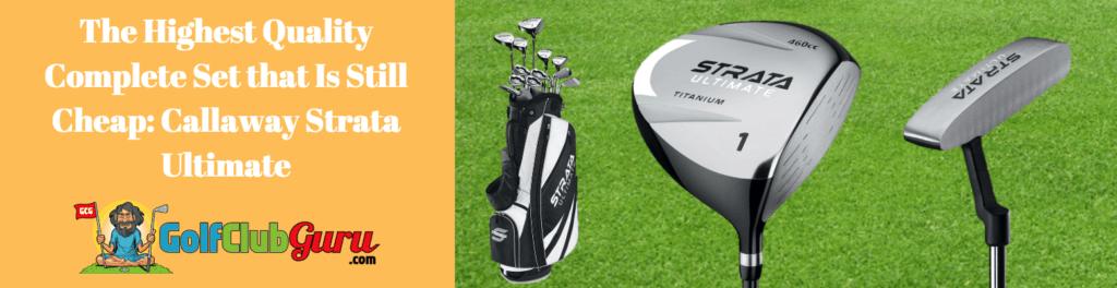 strata complete set golf clubs